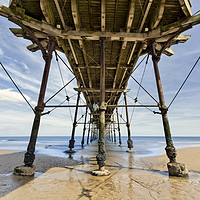 Buy canvas prints of Saltburn Pier by Graham Moore