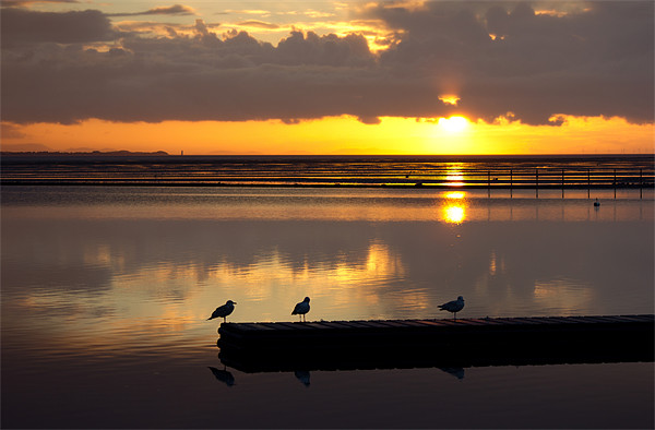 Birds eye view of a West kirby sunset Canvas print by Paul Farrell Photography
