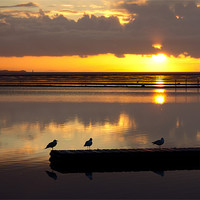 Buy canvas prints of Birds eye view of a West kirby sunset by Paul Farrell Photography