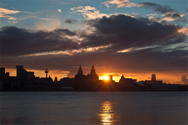 Sun rising over Liverpool Canvas print by Paul Farrell Photography