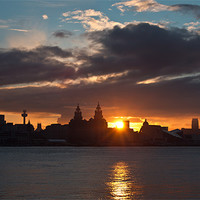 Buy canvas prints of Sun rising over Liverpool by Paul Farrell Photography