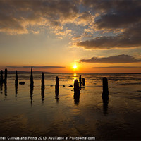Buy canvas prints of Caldy beach sunset by Paul Farrell Photography