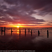 Buy canvas prints of Caldy beach sunset 03/04/2013 by Paul Farrell Photography