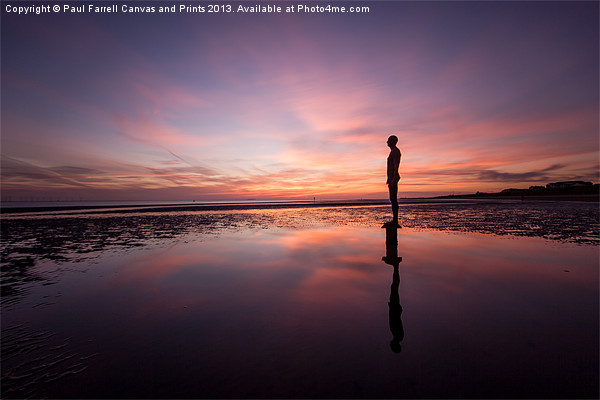 Crosby afterglow Canvas print by Paul Farrell Photography