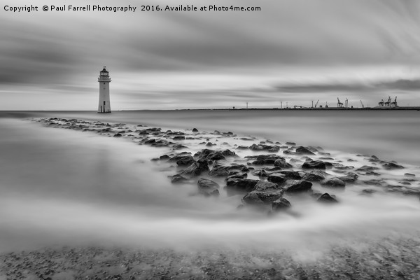 High tide at Perch Rock lighthouse in New Brighton Canvas print by Paul Farrell Photography