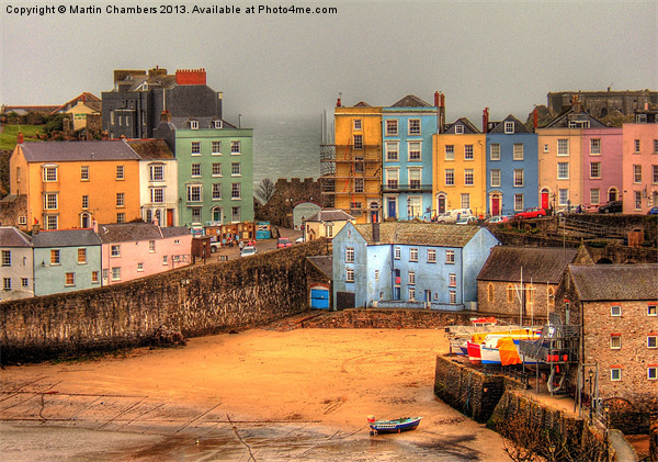 Tenby Harbour and Georgian Houses Canvas print by Martin Chambers