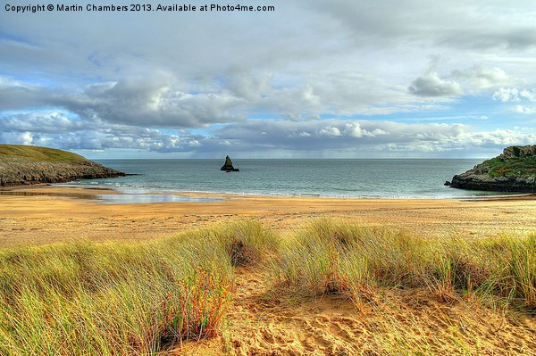 Broad Haven South, Pembrokeshire Canvas print by Martin Chambers