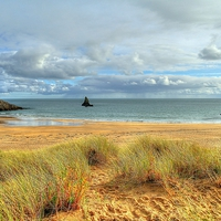 Buy canvas prints of Broad Haven South, Pembrokeshire by Martin Chambers