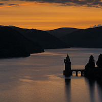 Buy canvas prints of Sunset over Lake Vyrnwy, Wales by Dave Brierley