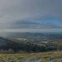 Buy canvas prints of West Malvern Panorama by Dave Brierley