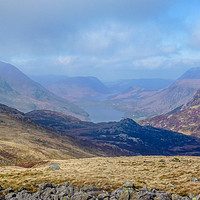 Buy canvas prints of Lake Buttermere, Lake District by Dave Brierley