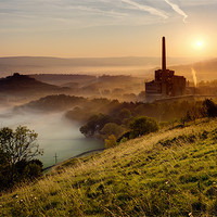 Buy canvas prints of Dawn on Industry by Chris Charlesworth