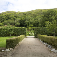 Buy canvas prints of  Kylemore Abbey Garden by Duncan Mathews