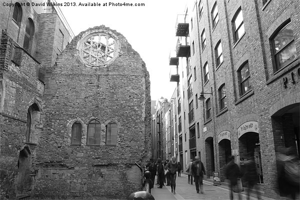 Winchester Palace, London Framed Mounted Print by David Wilkins