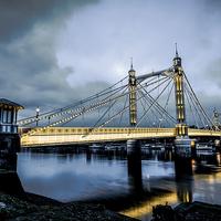Buy canvas prints of Albert Bridge by Vitor Da Silva
