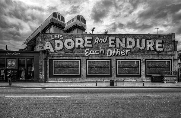 Adore and Endure each other! Canvas print by Jason Green