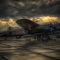 Buy canvas prints of Avro Lancaster NX611 by Jason Green