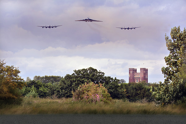 Avro Trio over Tattershall Castle Canvas print by Jason Green