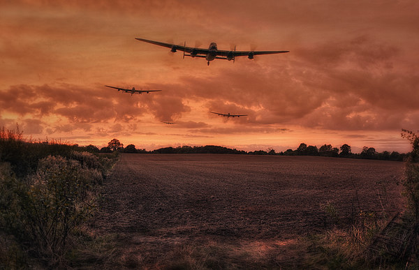 Lancaster Bomber Sorte Canvas print by Jason Green