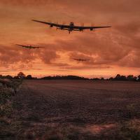 Buy canvas prints of Lancaster Bomber Sorte by Jason Green