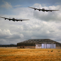Buy canvas prints of  Lancaster Bomber  by Jason Green
