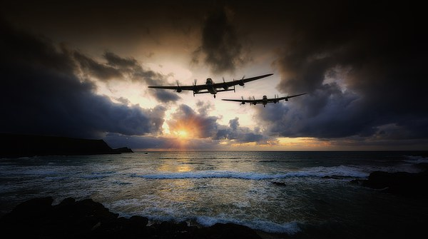 Lancaster Bombers Canvas print by Jason Green