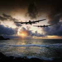 Buy canvas prints of  Lancaster Bombers by Jason Green