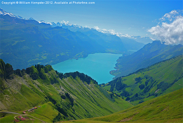Top of Brienz Print by William Kempster
