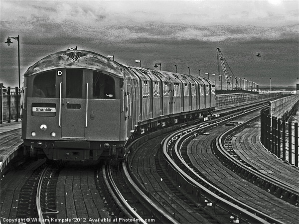 Isle Of Wight ex London Undergroud Class 483 Canvas Print by William Kempster