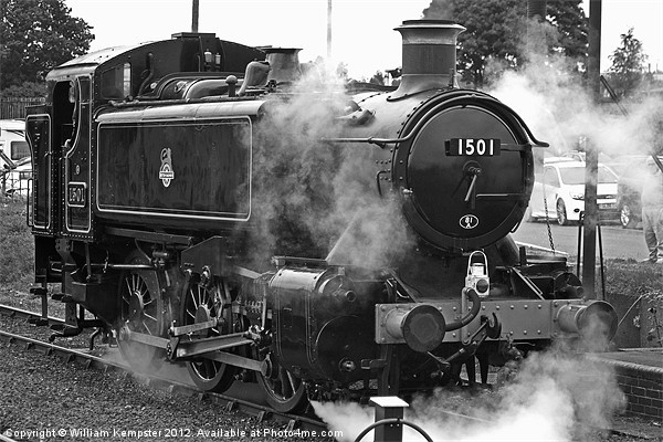 GWR Class 15xx 0-6-0PT No.1501 Canvas Print by William Kempster