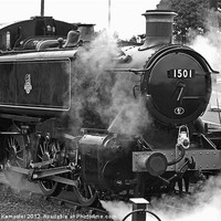 Buy canvas prints of GWR Class 15xx 0-6-0PT No.1501 by William Kempster