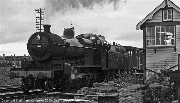 S&DJR 2-8-0 7F NO.88 Canvas Print by William Kempster