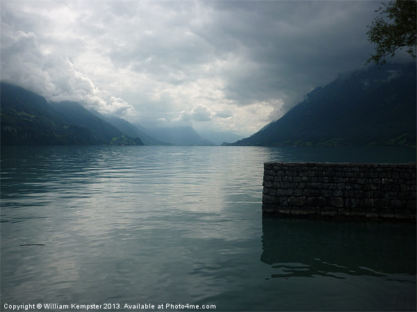 Lake Brienz Canvas print by William Kempster