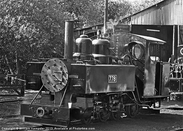 778 Baldwin War Department locomotive Canvas Print by William Kempster