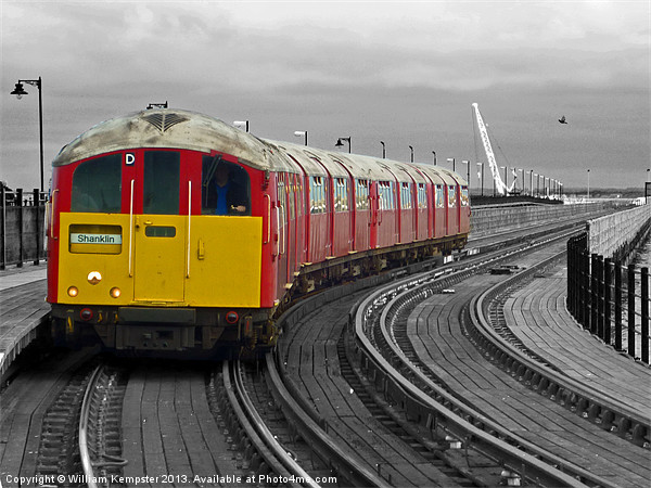 Isle Of Wight Ex London Underground Class 483 Canvas print by William Kempster