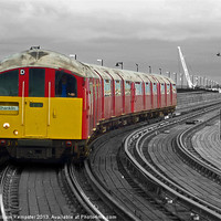 Buy canvas prints of Isle Of Wight Ex London Underground Class 483 by William Kempster