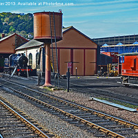 Buy canvas prints of Minehead Station Yard by William Kempster