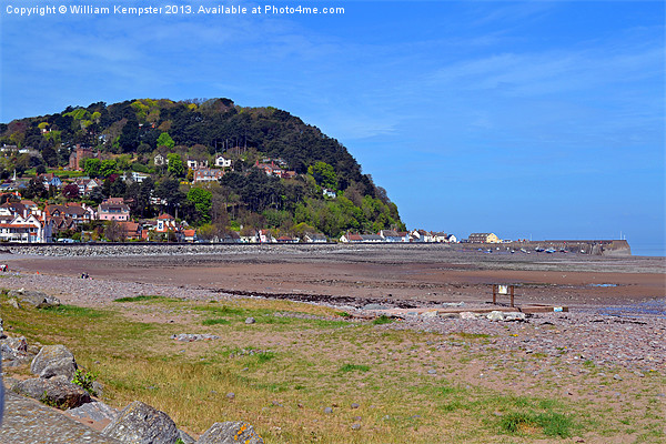 Minehead Seaside Canvas print by William Kempster