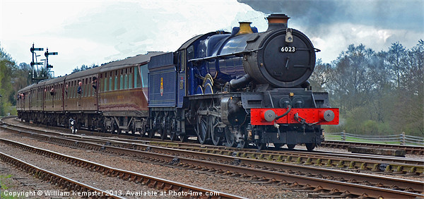 GWR King Class No 6023 King Edward II Canvas Print by William Kempster