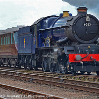 Buy canvas prints of GWR King Class No 6023 King Edward II by William Kempster