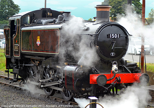 GWR Class 15xx No.1501 Canvas Print by William Kempster