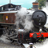 Buy canvas prints of GWR Class 15xx No.1501 by William Kempster
