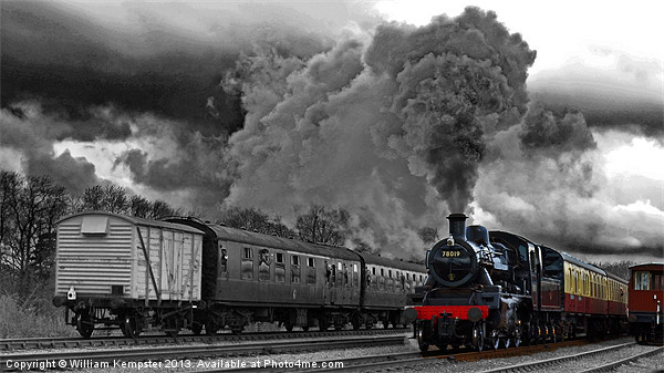BR Standard 2 Mogul No 78019 Canvas Print by William Kempster