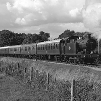 Buy canvas prints of GWR 56XX Class No.6695 B&W by William Kempster