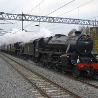 Buy canvas prints of The Cathedrals Express Double Headed Black 5s by William Kempster