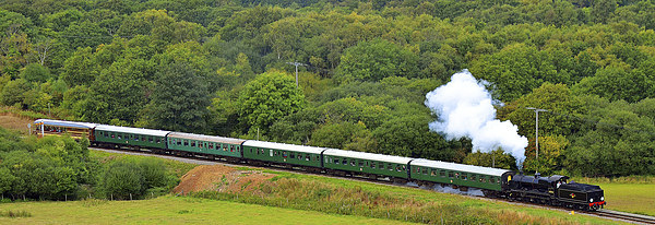Swanage Railway Steam Gala 2013 Canvas Print by William Kempster