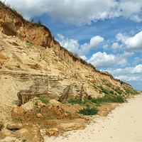 Buy canvas prints of Covehithe Beach, Suffolk by David Woodcock