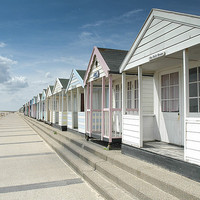 Buy canvas prints of Beach Huts in Southwold, Suffolk by David Woodcock