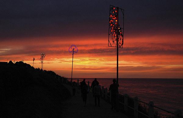 Cromer, Norfolk, Sunset Canvas Print by David Woodcock