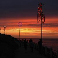 Buy canvas prints of Cromer, Norfolk, Sunset by David Woodcock